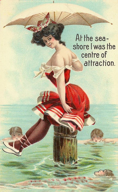 "Postcard: ""I am the center of attraction."""