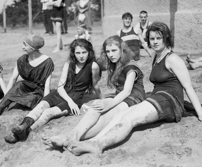 DIRTY GIRLS at the Beach. Dirty with sand.
