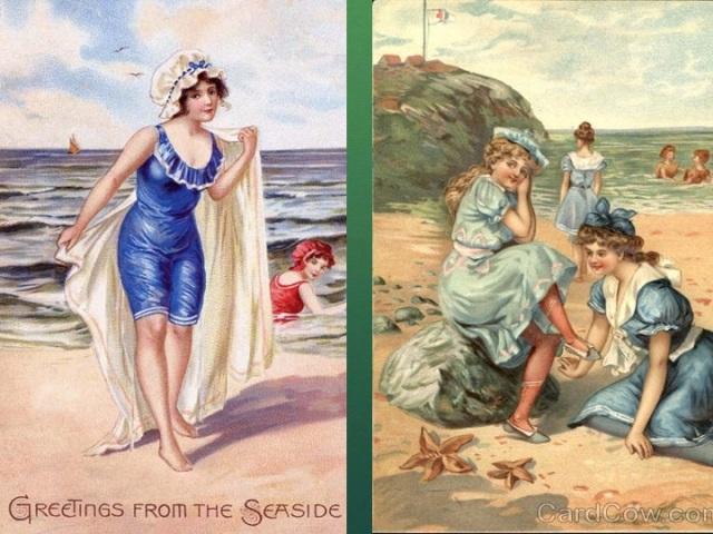 Greetings from the Seaside - Bathing Beauties postcards