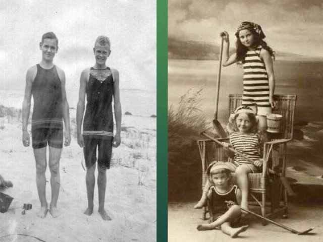 Brothers on the sand; Sisters in the studio at the beach