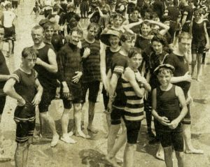 The beach CROWD on the crowded beach, 1901