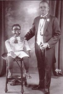 VENTRILOQUIST: John Cooper, one of the few black ventriloquists in vaudeville.
