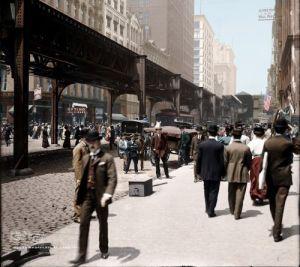 STREET SCENE: Wabash Avenue, Chicago, 1907
