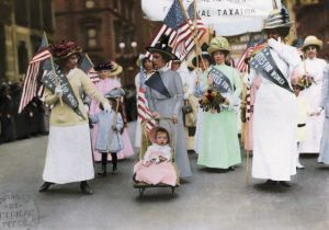 PARADE:  American Suffragette parade in New York City, May 1, 1912.